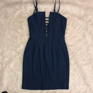 Tobi navy mini dress